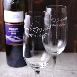 (One pair price) 185cc Japanese Cherry Blossom Festival [MSA] feather light Baotou champagne glass champagne glasses on group marriage marriage wedding gift gifts heart print customized