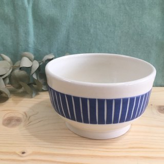 Blue - Line Pottery Bowl