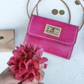 Not hit the pink three plus one tanned leather leather full leather clutch