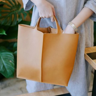 Signature tote bag - Tan