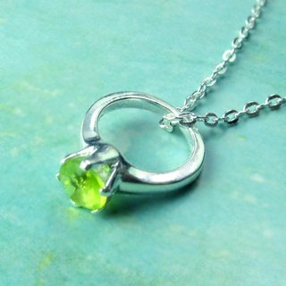 Birthstone Necklace Perfect Incarnation ‧August Birthstone Silver Necklace -64DESIGN