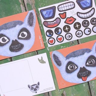 Sticker Me! Music stickers friends! _ Ring-tailed lemur