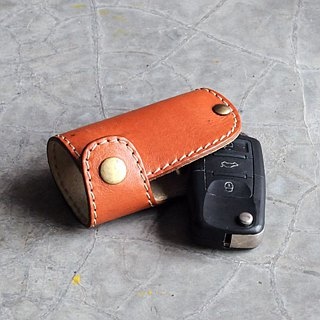 [DOZI leather hand made] car chip lock key bag can be freely selected