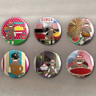 Naughty Monkey – Magnet (6 in) / Badge (6 in) / Birthday Gift [Special U Design]