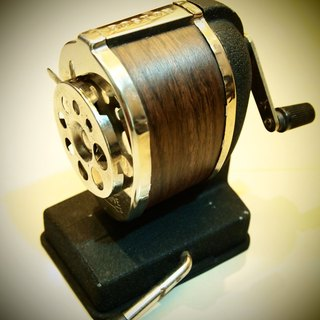 80 years old Boston American wood stationary pencil sharpener