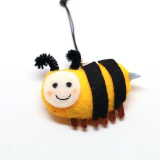 [Mobile phone good partner] hair honey bee pin / phone strap (with headset plug) / magnet