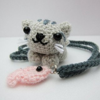 Tabby cat and fish. Bookmarks