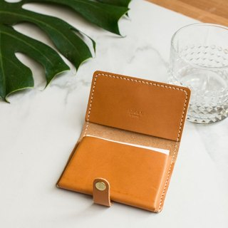 [ADOLE] leather hand made DIY set - business card holder - brown