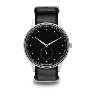 HYPERGRAND - Second Hand - Silver Black Dial Grey Twill Watch