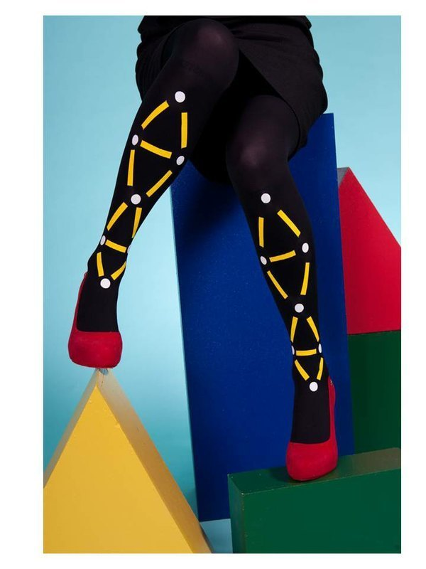 2013 SS Reloaded - Les Queues De Sardines France tights / chain baryons (yellow, black)