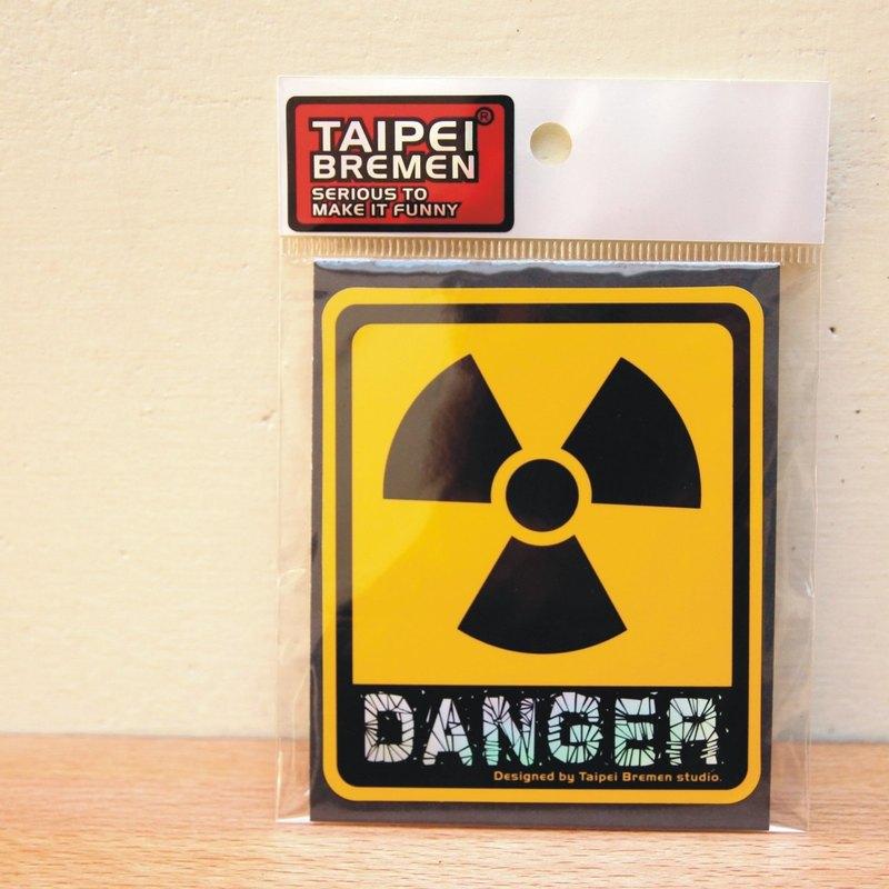 《台北不來梅》米奇鰻惡搞貼紙- Danger(警告黃)