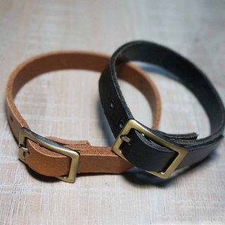 Sienna leather bracelet (custom 1cm wide) * typing