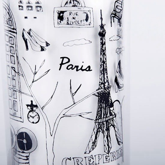Kellykiwi accompanying black and white travel mug - I LOVE PARIS