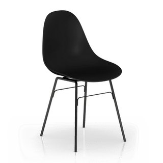 TOOU Side Chair with black Legs (Black)