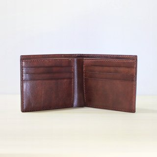 LION's Handmade Leather-- Short Wallet