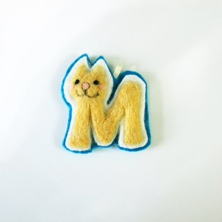 Meow star language letter 'M' Charm