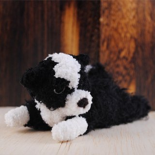 15cm pet cloned [feiwa Fei] lying posture doll handmade doll pet border collie (Welcome to order your dog)