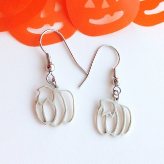 [Order production] earrings / Silver 950 Pumpkin design