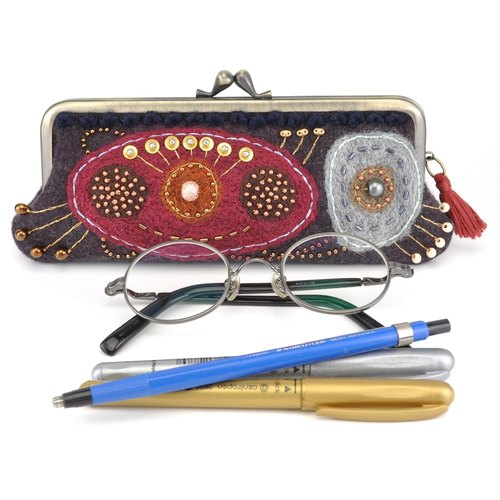 Glasses case pen case purse (20)