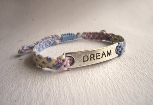 Full of dreams lucky braided rope bracelet (color optional)