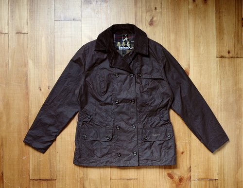 Rolling on [vintage] CJ-3309 BARBOUR dark coffee double-breasted jacket