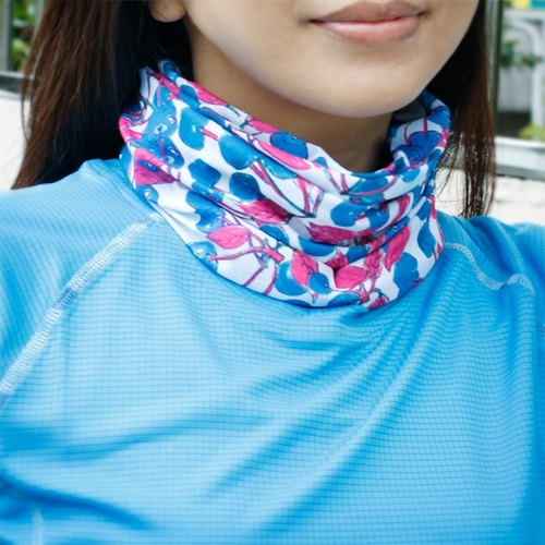 *cycling road race necessary*[COOLMAX sports scarf] Cherry Blue