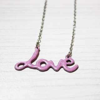 LOve handmade enamel necklace (color optional)