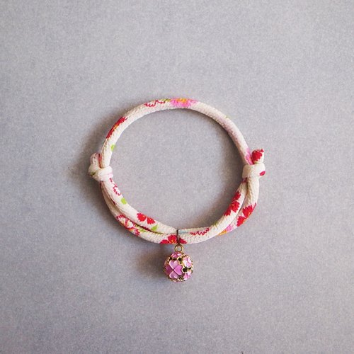 Japanese kimono dog collar & cat collar【Adjustable】creamy-white_S size