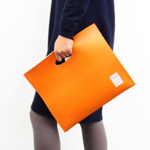 Coet File Bag Matte Orange Clutch - EcologyLine