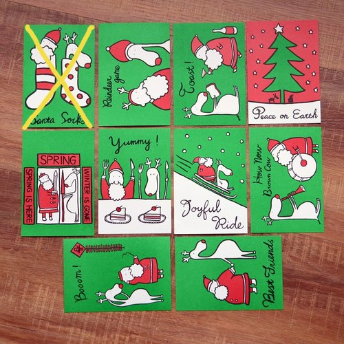 Christmas postcard (set of 10 models) (send ㄧ buy four sets)
