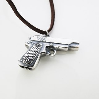 Pistol (925 sterling silver necklace) - Cpercent handmade jewelry