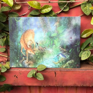 Story Postcard / Card - Sika Deer / White Nose / Flying Squirrel - into the forest
