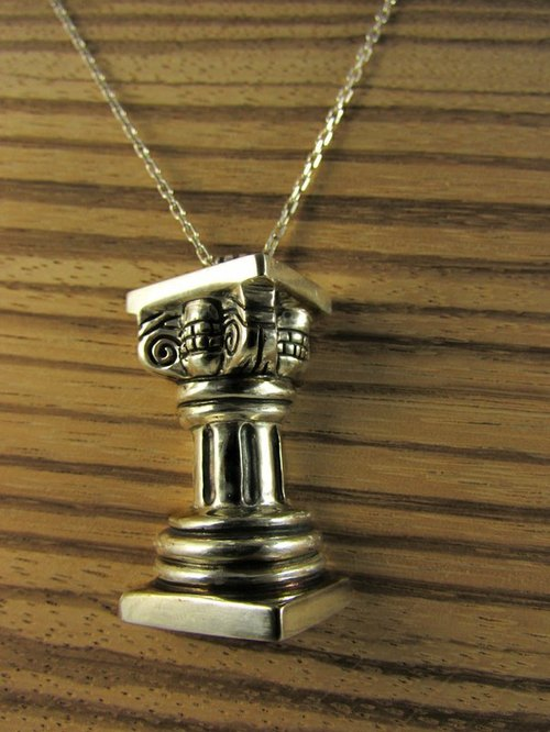 mittag [NL352] roman pillar Roman designer handmade silver necklaces - with brand wood jewelry box ... super take free transport