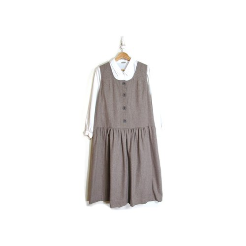 [Vintage] simple egg plant life vest vintage wool skirt dress