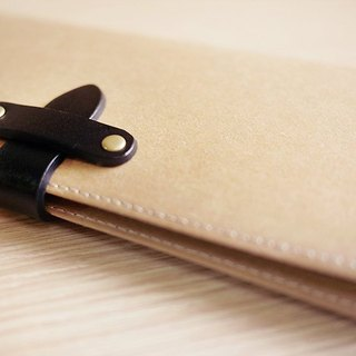 Long washed kraft paper clip / wallet / wallet / purse. primary color