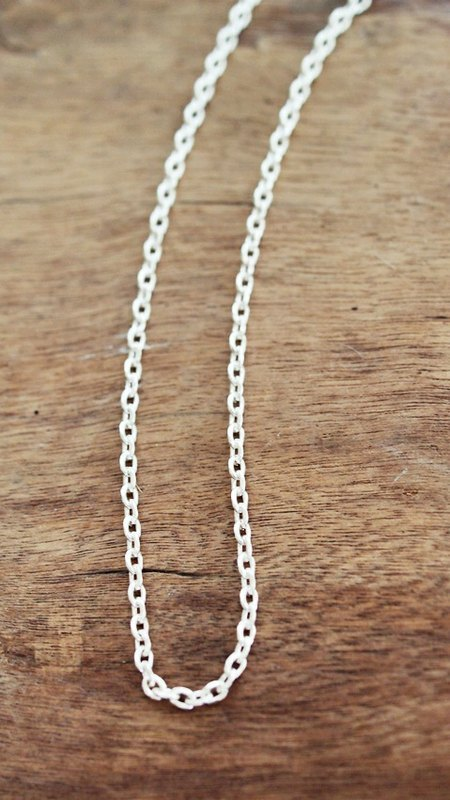 ♥ ♥ 925 basic models good match Silver Necklace -20 inches long chain [chain] oblate (neutral, male models)