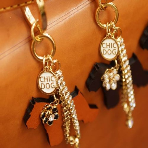 [CHIC DOG] cow leather Strap (Brown)