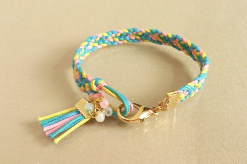 ~ Fashion national wind ~ color wax rope braided bracelet ~ YASU-K exclusive color