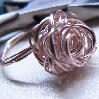 Metal-Hand-made Spiral Rose Gold Flower Ring | US 2 ~ 6 Order | - Rose Gold (Handmade. Gifts. Ornaments. American Import. Rings. Gift Box.