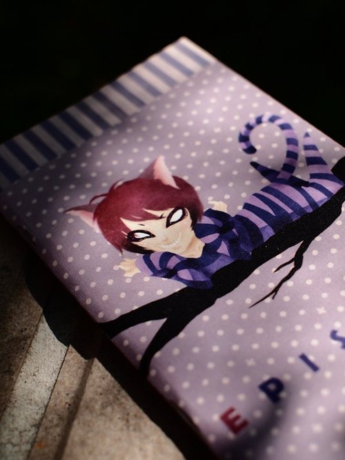 ZoeL * pocket notebook * Cheshire Cat Cheshire Cat * Homemade Alice Alice illustration