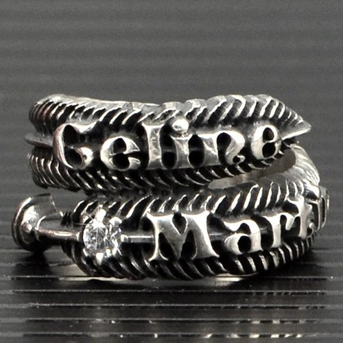 Customized ring .925 sterling silver jewelry FER00001- feather
