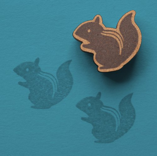 [Stamp] hand-painted illustrations stamp squirrel