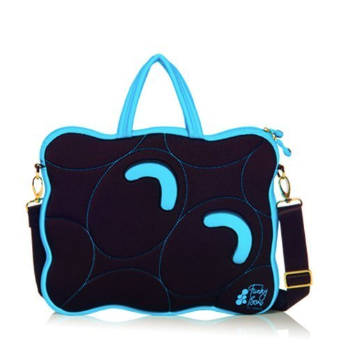 15 '' UK W1-LONDON Funky Bone Multifunctional computer bag - Turkish blue side