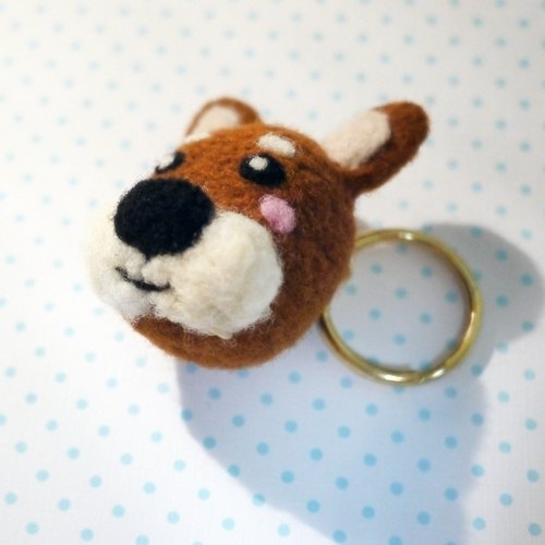 Hanju's wool children. DIY handmade wool felt Shiba Inu puppy series mobile phone strap / dust plug / strong magnet