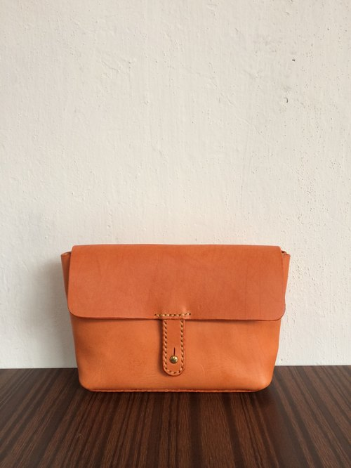 【Note production】 simple dinner package / cosmetic bag / oblique bag / side backpack / orange period limit