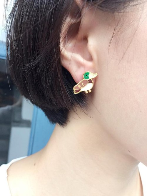 CutFing - Retro mallard earrings