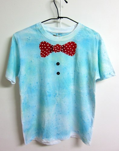 I love the bow tie - Normal length version of hand-painted T (XS No. No. & M has sold out of stock)