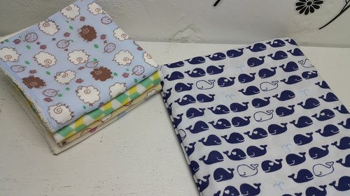 Whales in water double gauze handkerchief towel bibs absorbent towel