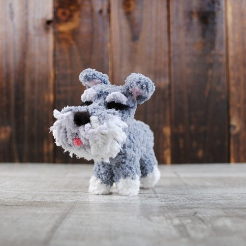 12cm pet cloned [feiwa Fei hand-made] baby dog ​​pet schnauzer Old Master Doll (Welcome to order your dog)