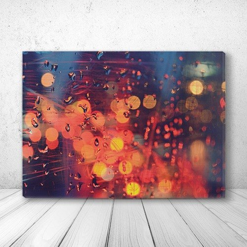 [RainCity] orange scratches stylish frameless painting SKU AG1-WLDC14